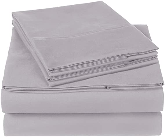 Amazon.com: Pinzon 300 Thread Count Organic Cotton Sheet Set - Cal King, Dove Grey: Home & Kitchen