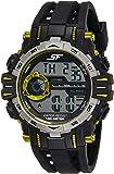 Sonata Digital Black Dial Men's Watch-NK77069PP02