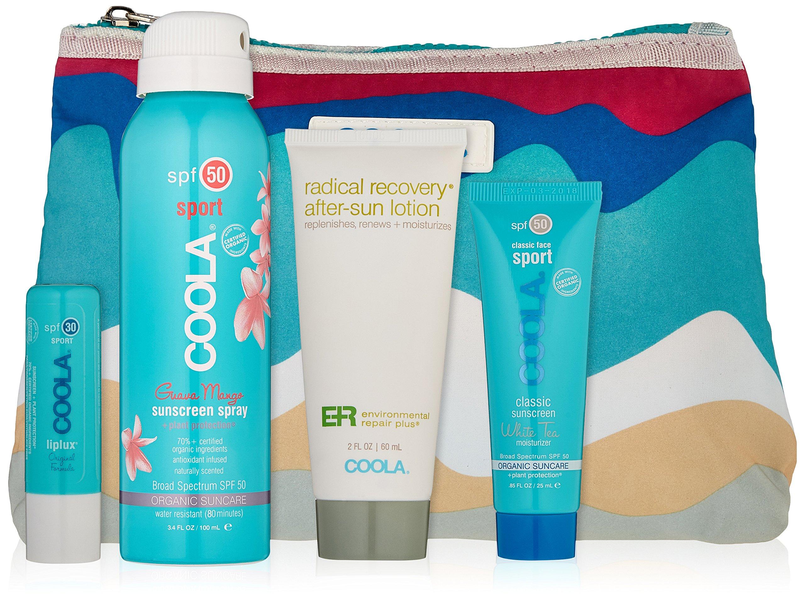 COOLA Suncare Sport Essentials Sport Travel Kit, 4 fl. oz.