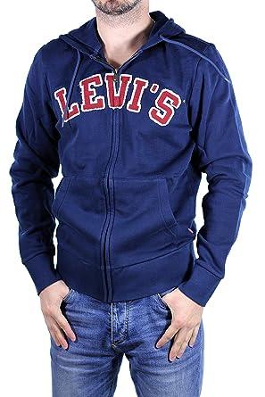 LEVIS - Sudadera Hombre con Cremallera - Color: Azul ...
