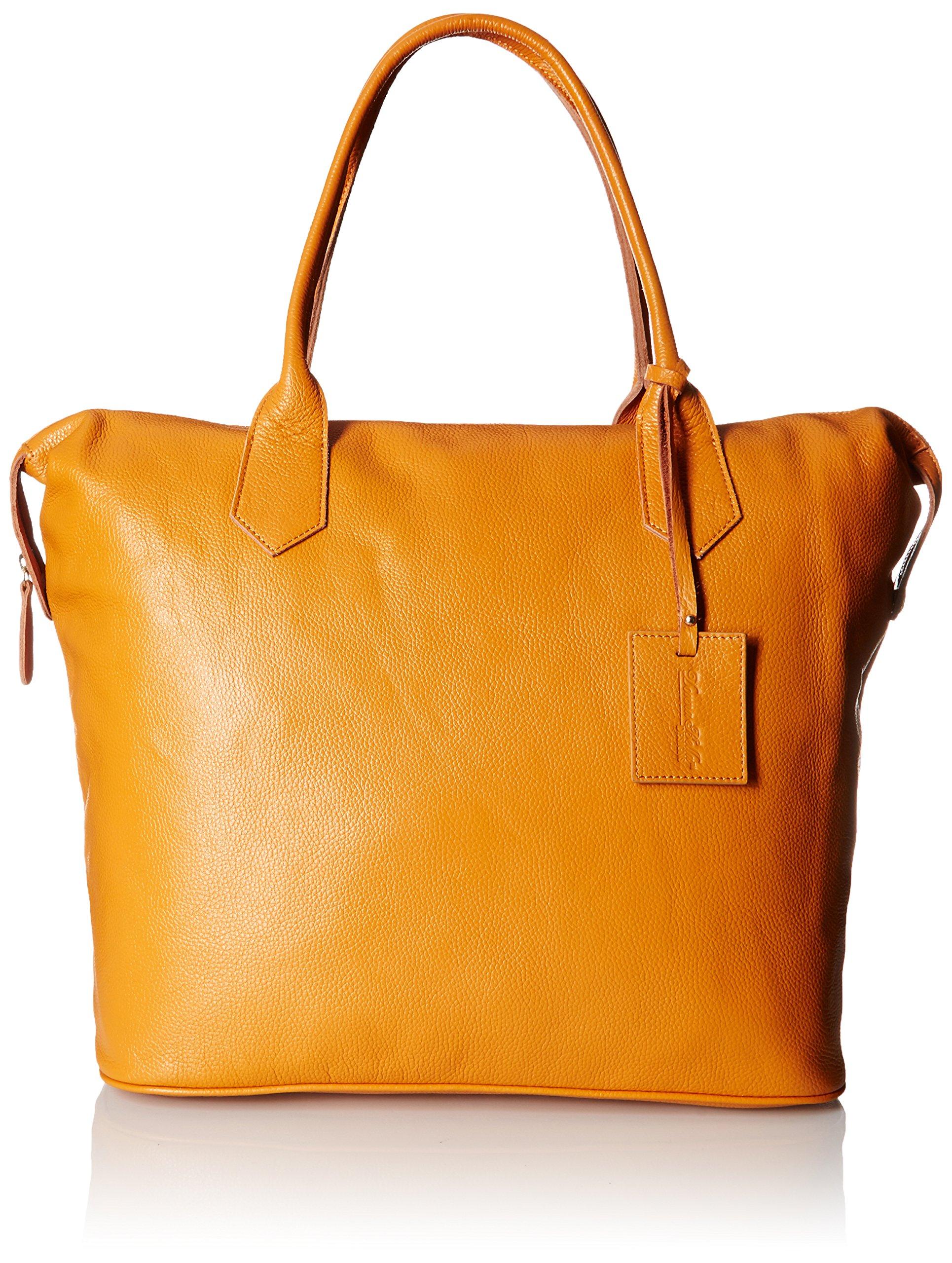 Donna Bella Designs Heron Leather Weekend Bag, Yellow