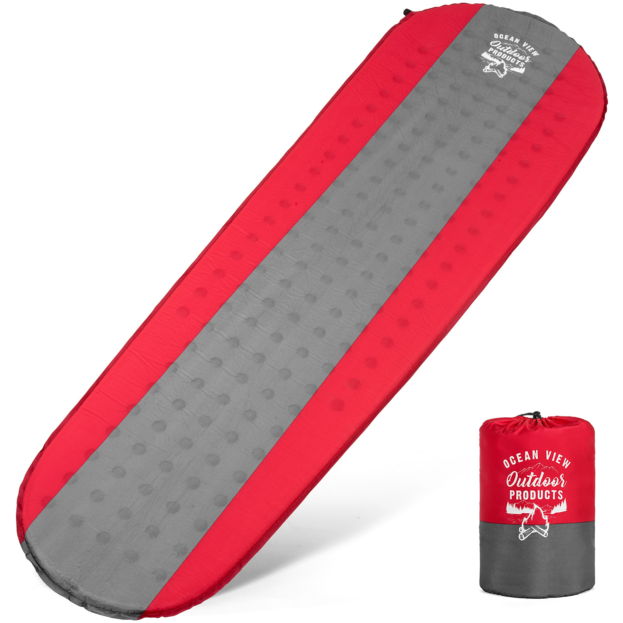 Ocean View Outdoors Sleeping Pad for Campers, Hikers and All Outdoor Adventurists. You Will Love This Fast Inflating Sleeping pad; Lightweight, Easy to Carry, Compact