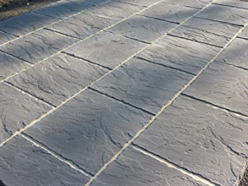 Stone Concrete Paving Patio Slabs 600 X 600. (Pack Of 22)