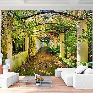 Fototapete Garten Natur 3D Vlies Wand Tapete Wohnzimmer Schlafzimmer Büro  Flur Dekoration Wandbilder XXL Moderne Wanddeko