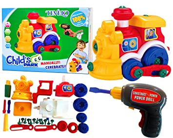 Take A Part Toys Locomotive Assemble Disassemble With Drill And
