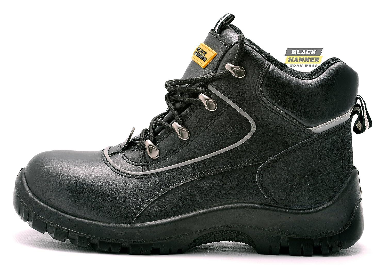 Para tobillo hombre de de piel de de botas trabajo de seguridad botas para a35d78