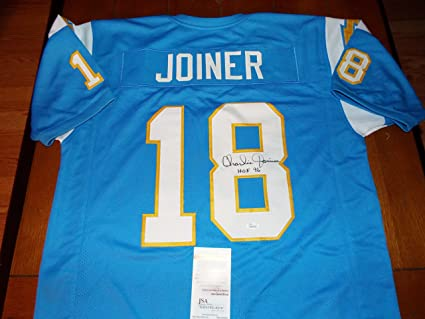on sale 82837 7f45a Charlie Joiner Signed Authentic Style Throwback Chargers ...