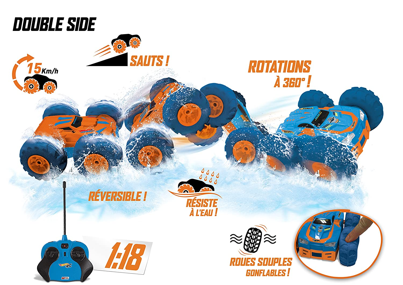 Amazon.com: Mondo - Hot Wheels Double Side Radio Control Scale 1/18: Toys & Games