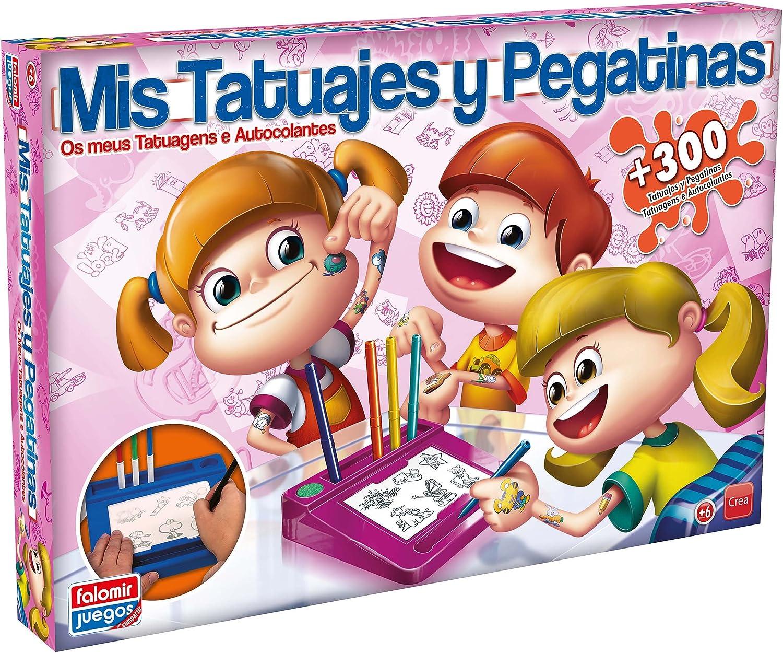 Falomir Tatuajes y Pegatinas-Juego de Mesa (Manualidades) (32-2484): Amazon.es: Juguetes y juegos