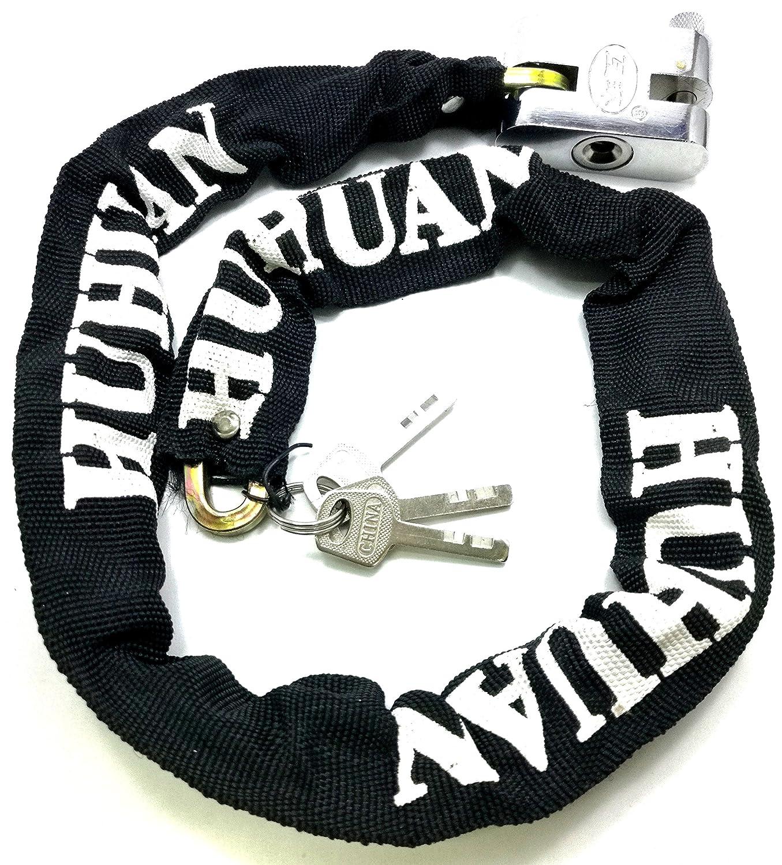 TriEcoWorld moto y bicicleta cadena de seguridad Lock Candado 100cm (1 Metro)