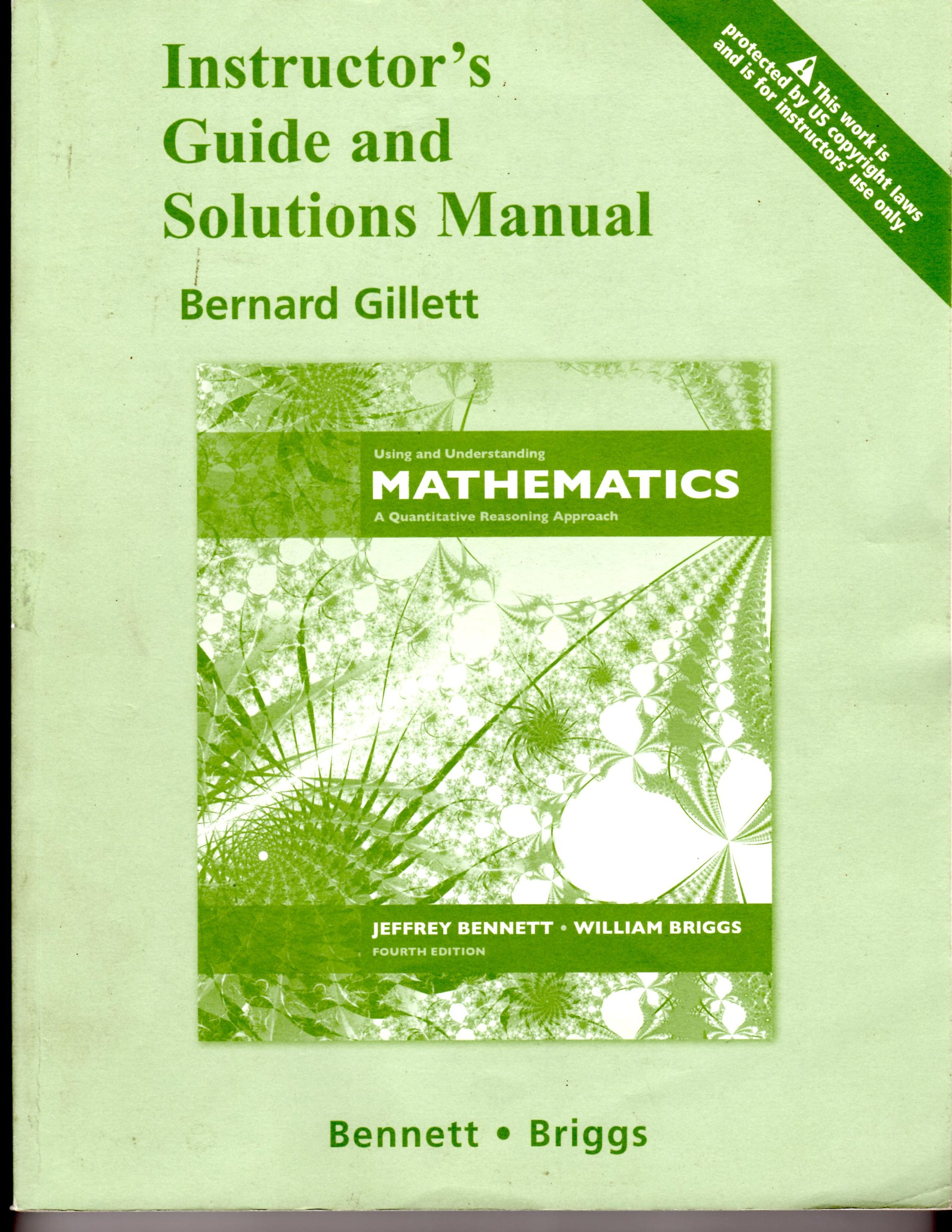 Download Instructor's Guide fot ISBN 0321458206 Using Understanding Mathematics 4th Edition with Solutions Ma PDF Text fb2 book