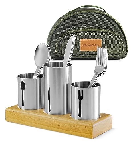 Cesta para utensilios de cocina con soporte para cubiertos ...