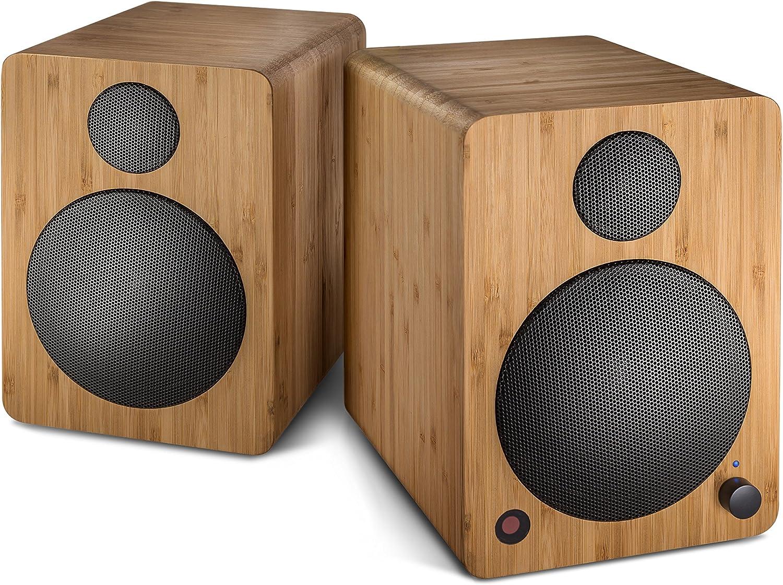 Wavemaster Cube Mini Neo Bamboo Regallautsprecher System 36 Watt Mit Bluetooth Streaming Digitalanschluss Und Ir Fernbedienung Aktiv Boxen Nutzung Für Tv Tablet Smartphone Bambus 66372 Audio Hifi