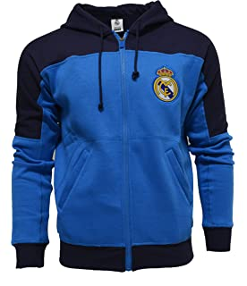 Amazon.com: Real Madrid Hoodie Zip Front Fleece Sweatshirt ...