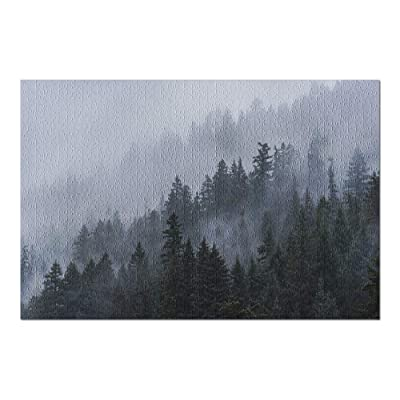 Fog & Evergreens in The Pacific Northwest 9028919 (Premium 1000 Piece Jigsaw Puzzle for Adults, 20x30, Made in USA!): Toys & Games