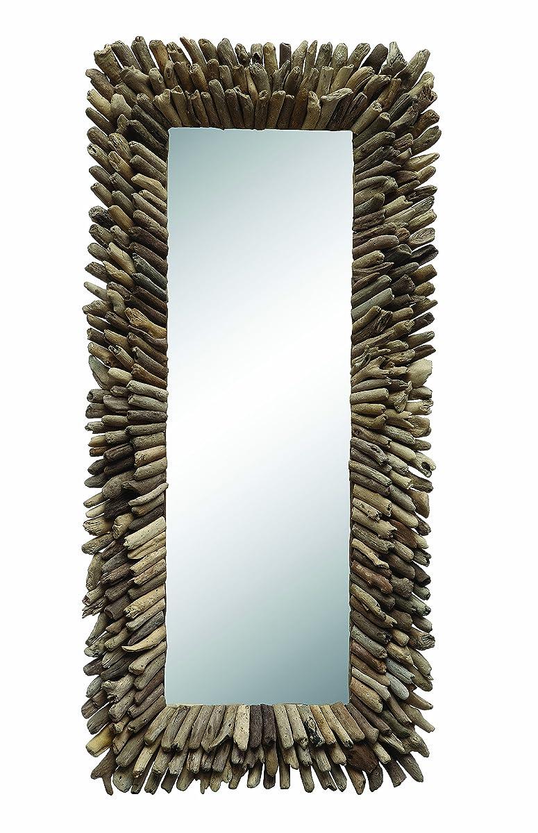 Creative Co-op DA0675 Large Rectangle Driftwood Framed Mirror