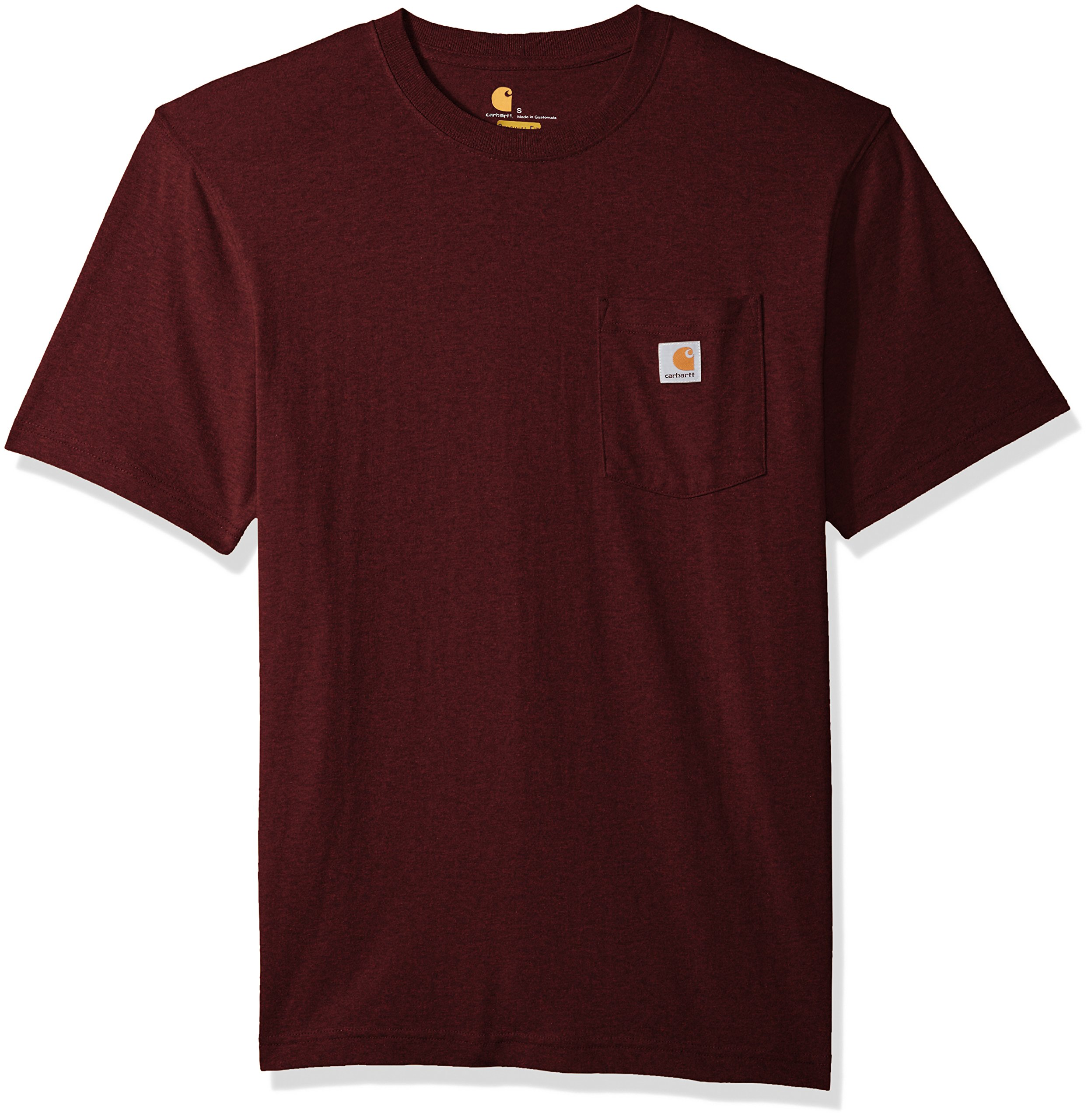 Carhartt Men's Workwear Short Sleeve T-Shirt in Original Fit K87, Port Heather, Large