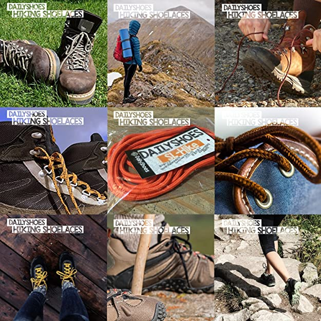 Hiking Walking Boot Laces Sneakers shoelaces Shoe Laces String Male Femal B$CA