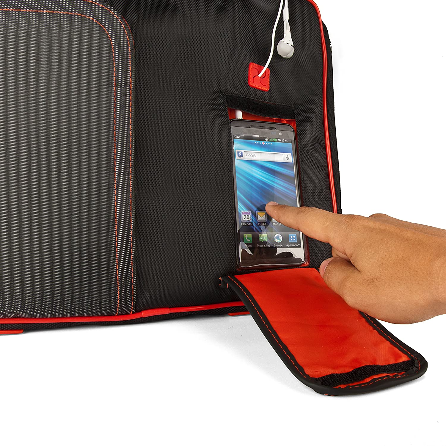 Red VanGoddy Pindar Messenger Carrying Bag for Azend Group Corp Envizen 10.1 Android /& Windows Tablets