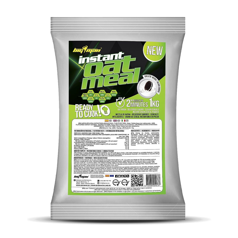 BigMan Harina de Avena Instant Oatmeal 3 bolsas x 1 kg Chocolate: Amazon.es: Salud y cuidado personal