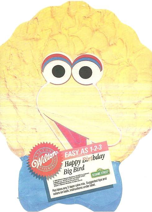 Amazon Com Wilton 1 2 3 Cake Pan Sesame Street S Big Bird