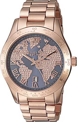 Michael Kors Women's Layton Rose Gold Tone Watch MK6395