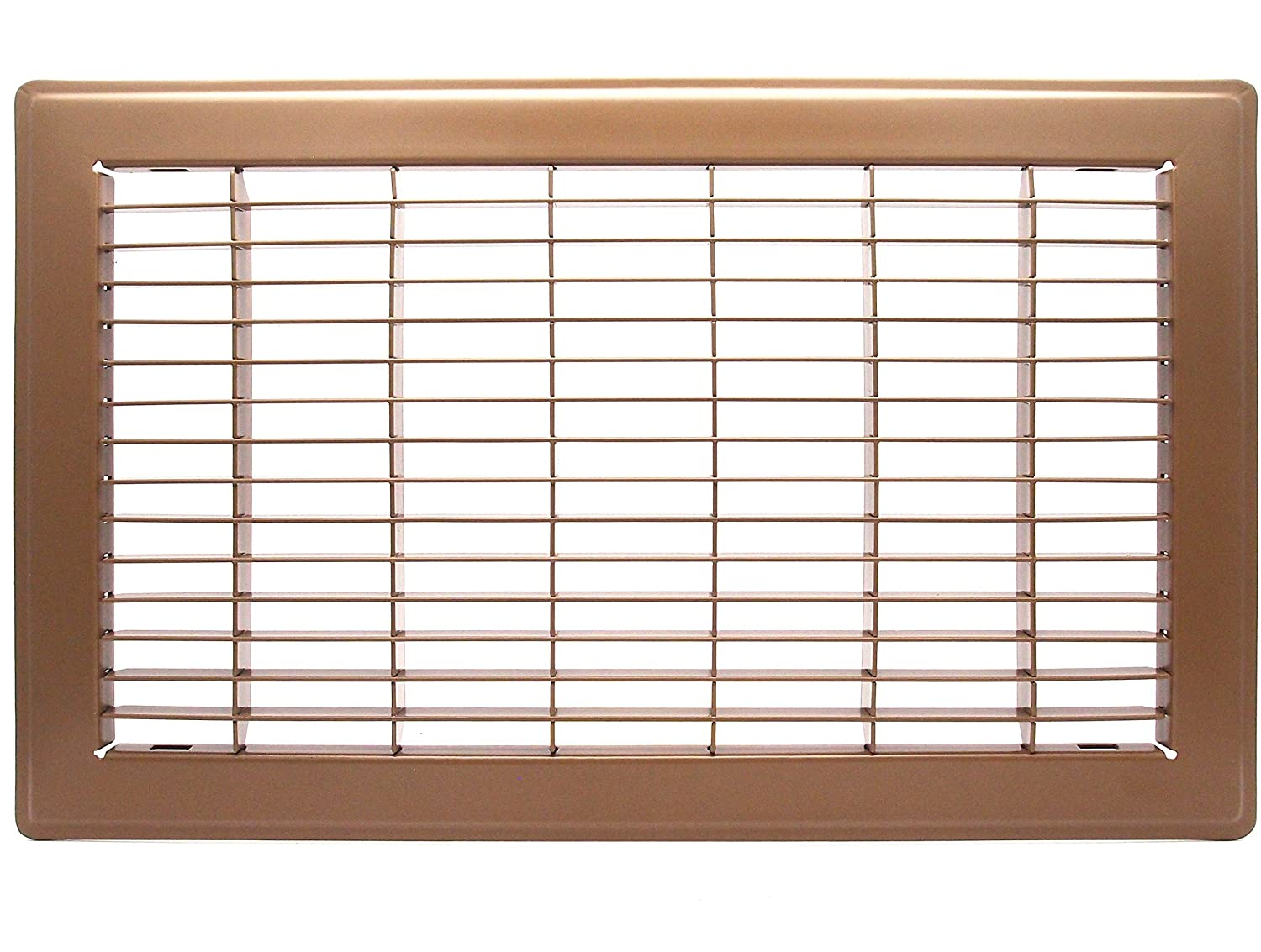 Brown 6 X 12 Floor Grille HVAC Premium CECOMINOD081385 Outer Dimensions: 7.75 X 13.75 Fixed Blades Air Grill