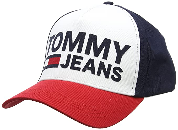 Tju Flock M Baseball Cap, Black (Corporate 901), One Size (Manufacturer Size: OS) Tommy Jeans