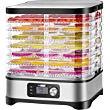 VIVOHOME Electric 400W 8 Trays Food Dehydrator Machine with Digital Timer and Temperature Control for Fruit Vegetable…