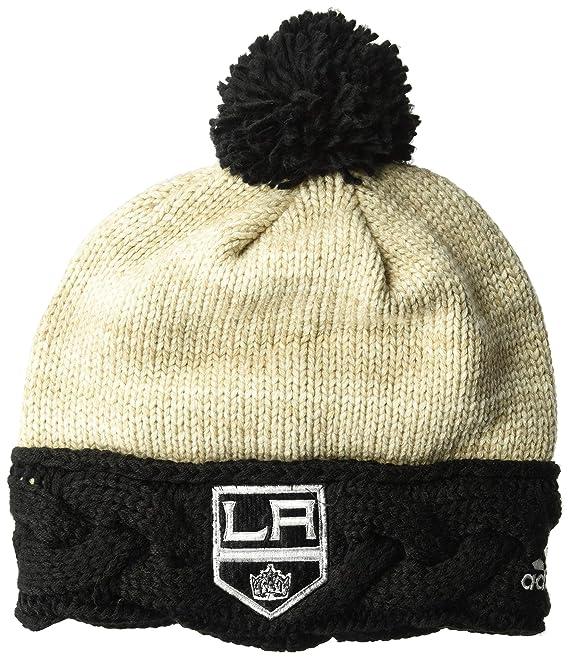 cc21de7bdc8 Amazon.com   adidas NHL Chicago Blackhawks Cuffed Knit Pom Hat