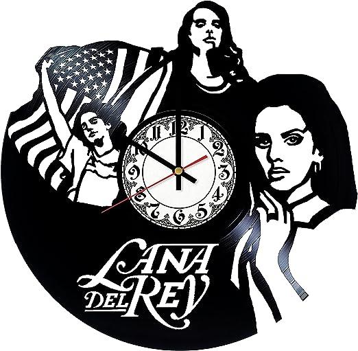 Lana Del Rey Vinyl Record Wall Clock Lana Del Rey Handmade for Kitchen Lana Del Rey Unique Wall Poster