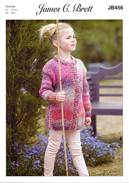 2713d6652 James C Brett JB456 Knitting Pattern Girls Tunic and Jacket in James C  Brett Marble Chunky  Amazon.co.uk  Kitchen   Home