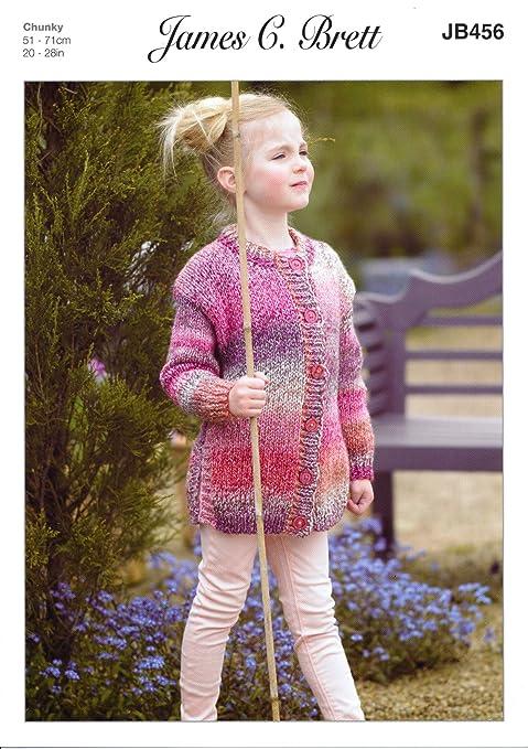 Amazon Com James Brett Harmony Chunky Knitting Pattern Girls Split