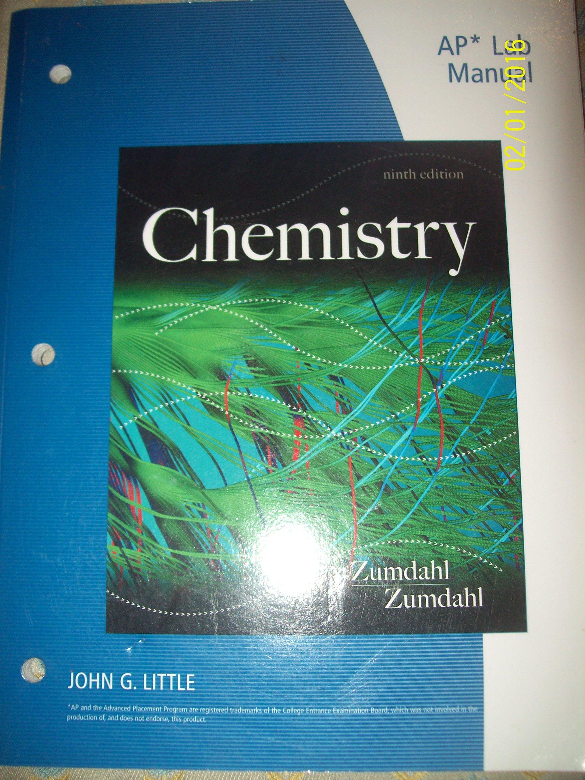 AP Lab Manual for 9th edition Chemistry Zumdahl and Zumdahl: John G Little:  9781133611493: Amazon.com: Books