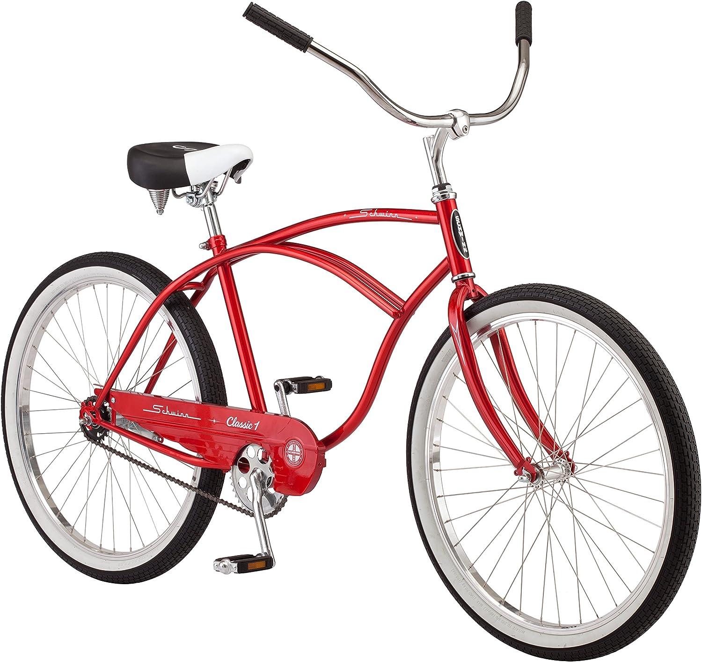 Schwinn Men s Classic 1 26 Wheel Cruiser Bicycle, Red, 14 Medium