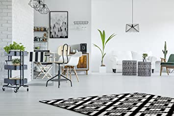 Amazon moderner geometrischer kurzflor teppich
