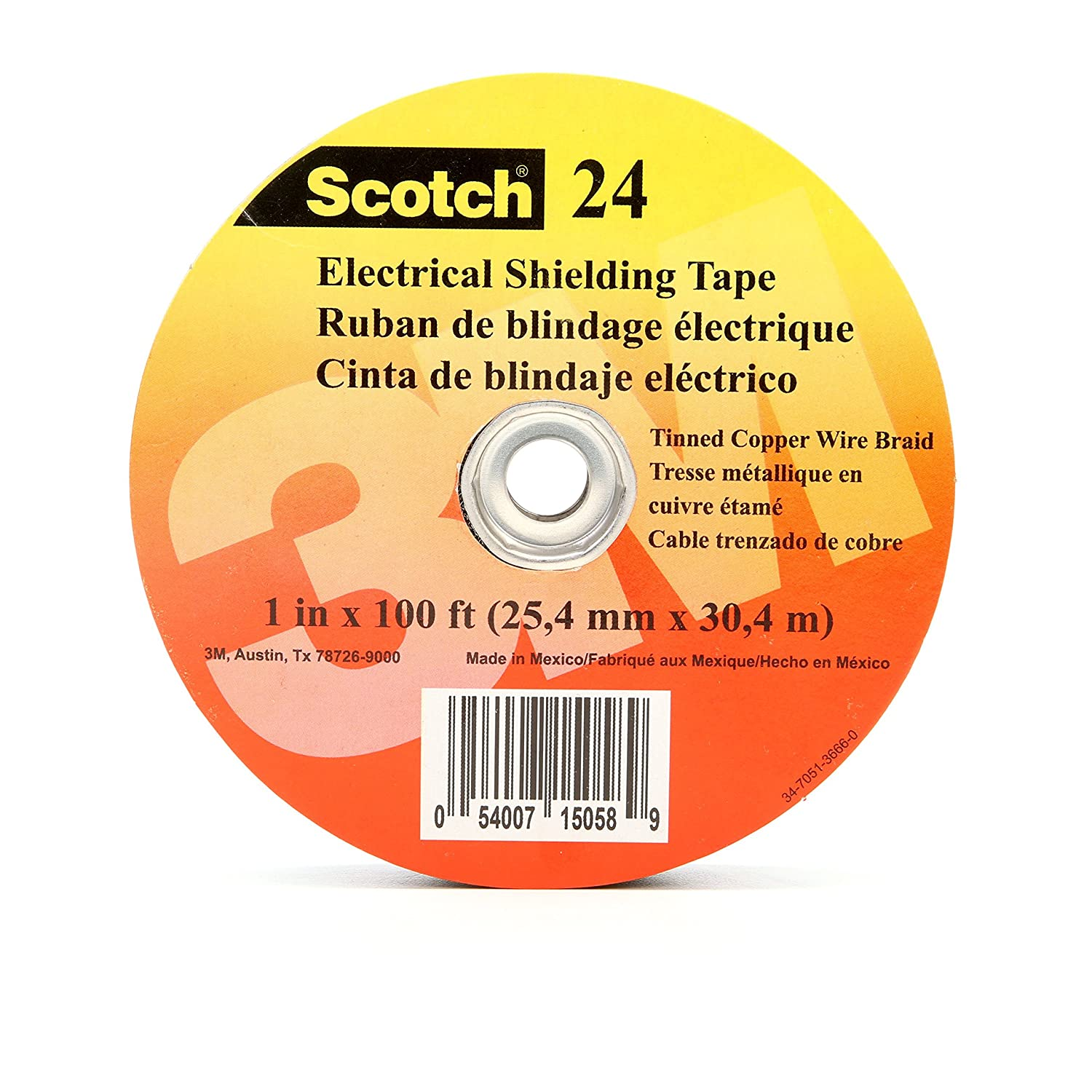Image of 3M 24-1X100FT Scotch Electrical Shielding Tape