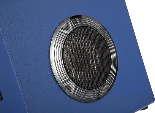 Blu RockJam BT-1106BL Altoparlante Bluetooth Portatile per Feste con Potenti Luci da Discoteca LED