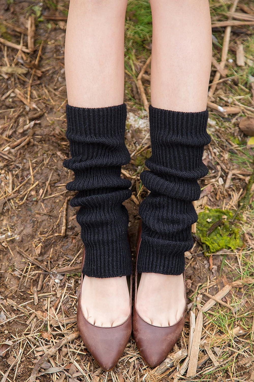 OwlGift Women Fashion Thigh Ribbed Knit Open Heel Leg Warmer for Dance Yoga Sports