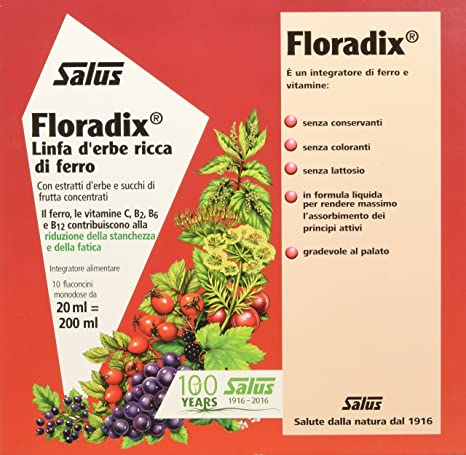 Salus Floradix Ferro E Vitamine Integratore Alimentare Con Estratti Vegetali 200 Ml Amazon It Salute E Cura Della Persona