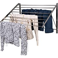 brightmaison Clothes Laundry Drying Rack Heavy Duty Stainless Steel Wall Mounted Folding Adjustable Collapsible Space…