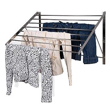 Amazon.com: Bastidor para secado de ropa montado en pared ...
