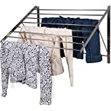 Clothes Laundry Drying Rack Heavy Duty Stainless Steel Wall Mounted Folding Adjustable Collapsible Space Saver 6.5 Yards Dryi