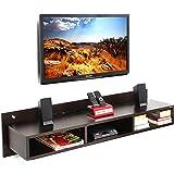 Bluewud Reynold TV Entertainment Unit/Wall Set Top Box Stand Shelf (Large Wenge)