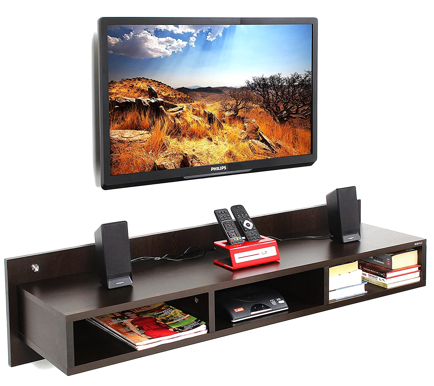 Bluewud Reynold TU RE LAW Wall Unit Wenge