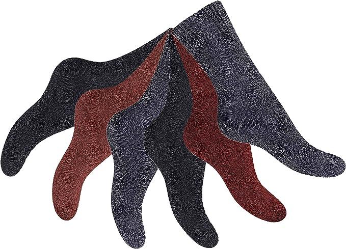 feelzone 6 Paar Damen Thermo Socken Wintersocken mit Vollfrottee /& Softbund warm und weich