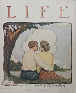 John Cecil Clay, (there is nothing like a good book), this is an actual 1904 Life magazine cover, beautiful illustration