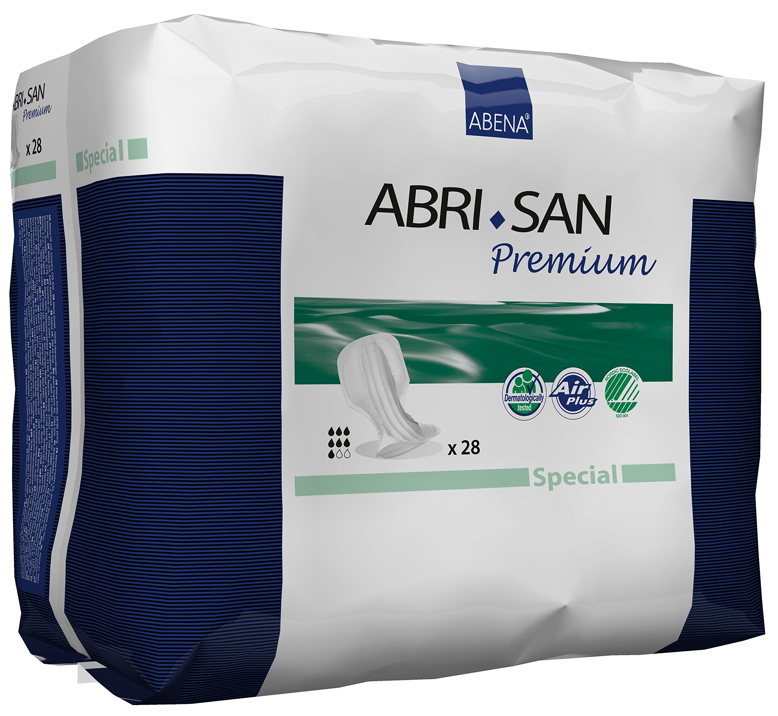 Abena Abri-San Special Pad for Fecal and Urinary Incontinence, 112 Count (4 Packs of 28)