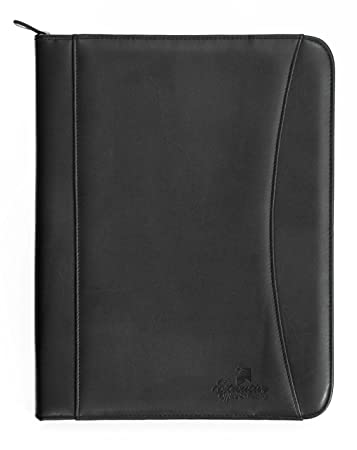 professional executive pu leather business resume portfolio padfolio case organizer with ipad mini or tablet sleeve - Resume Holder