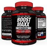 BoostMAXX Male Enhancement Pills | Enhancing Libido, Drive, Performance, Boost Testosterone | Horny Goat Weed Yohimbe Maca 60 Pills Herbal Supplement | BioScience Nutrition